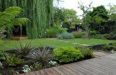 family contemporary backyard design via homeklondike.com