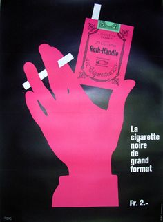 Galerie Montmartre:  Original Vintage Posters  Herbert Leupin  Roth Handle 1967  86 x 118 cm