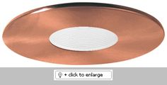 Elco EL1423 Low Voltage Trim (pinhole with baffle, adjustable, shallow)    Regular price: $39.63    Sale price: $23.58