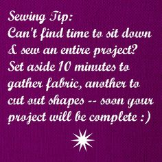 What's your #sewing or #crafting tip?