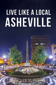 Explore the gorgeous city of Asheville tucked in the Blue Ridge Mountains.