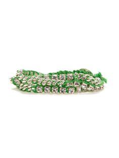 Neon Chain & Crystal Wrap Bracelets by Chan Luu on Gilt.com