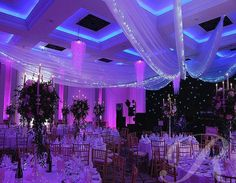 ceiling designs using colored lights
