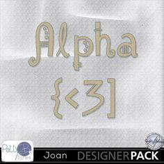 Joan Alpha #pattybscraps #mymemories #digitalscrapbooking