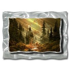 Mountain landscape metal #wall art, modern home decor, contemporary wall sculpture.  This would be awesome in the living room!
