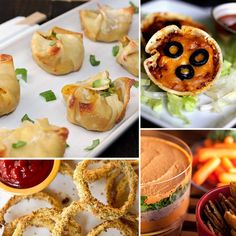Healthy Appetizers- love the baked onion rings! wonton, coconut shrimp, chipotle, artichoke dip, baked chicken, healthi appet, healthy appetizers, dips, crabs