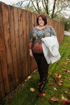 A Brown Situation ~ Jessica Kane wearing Avenue Fall 2013 Fashion.