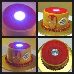 Iron Man Arc Reactor Cake