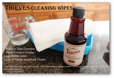 Thieves Cleaning Wipes with Young Living Essential Oils  purempowerment.com