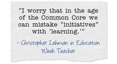 Here's a collection of resources for Common Core implementation.