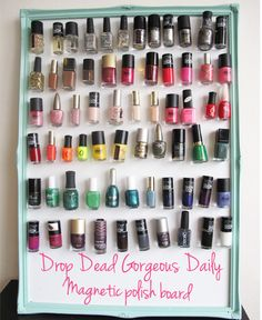 I think i might want to do this.. idk though I might rather do a shelf cause it looks more professional. right now they all just on trays on my dresser.