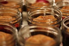 blueberry cobblers in jars...