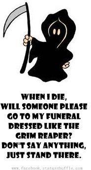 When I die..
