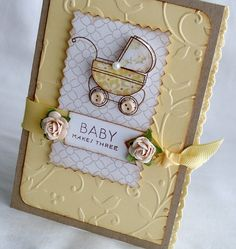 Love these colors for a different baby card.