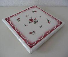 Grand dessous de plat ancien DIGOIN SARREGUEMINES décor à la rose