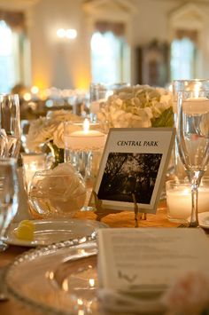Using landmarks, significant to the bride & groom, instead of table number