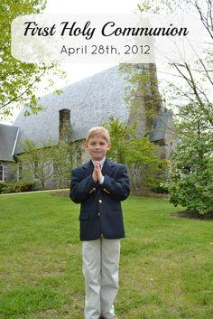 1st communion boys -