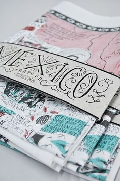 lettering, packaging