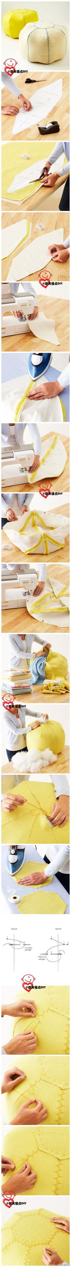 Step-by-step pouf photos