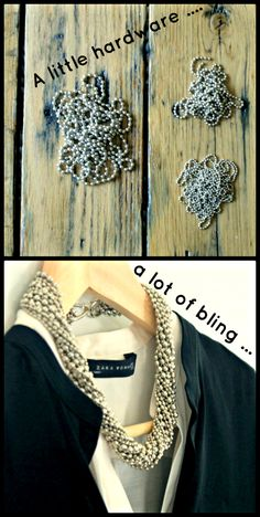 DIY - Use ball chain to create a twisted metal necklace ...