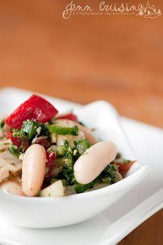 White bean tuna & pesto salad