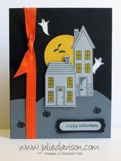 Holiday Home Halloween Card CASE #stampinup #halloween www.juliedavison.com