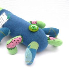 Handmade Upcycled Plush Funny Monster Sock Toy by Fuffalumps