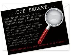 spy invitation