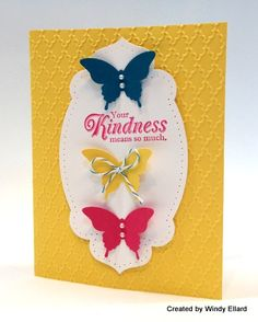 Bright colors for a cheerful card.