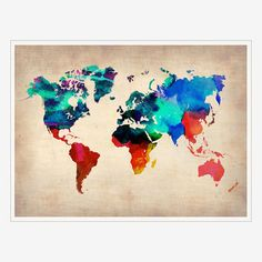 My design inspiration: World Map Print on Fab.