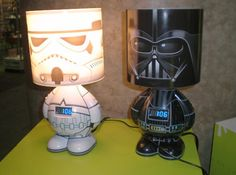 stars wars lamps for the star wars room!!