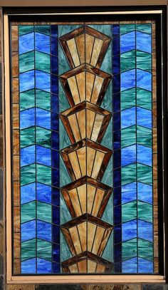 art deco stain glass