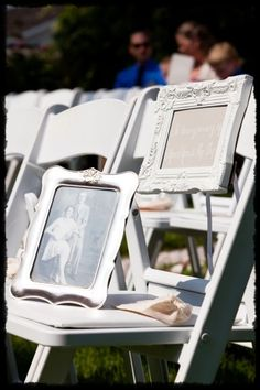 in memory chair wedding ceremony, you could reserve a table at the reception for all of the people attending from heaven.