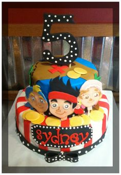 Jake and the Neverland Pirates cake .... WOW!!!! I wish I could decorate cakes!