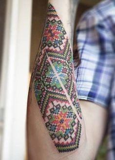 beauti crossstitch, a tattoo, stitch tattoo, cross stitches