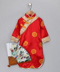 Red Asian-Inspired Dress-Up Set - Toddler & Kids #zulily #zulilyfinds