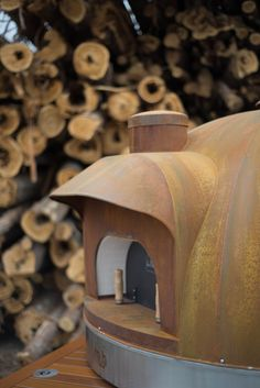 Le Panyol Mobile Wood Fired Oven | Corten Steel | Pizza & Bread Oven | Made by Maine Wood Heat Company