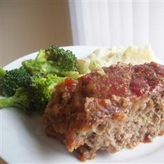 This tasty meatloaf flavored with ginger, has a sweet brown sugar and ketchup glaze.