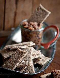 Raw Walnut, Pear Crackers with Pear Fig Compote