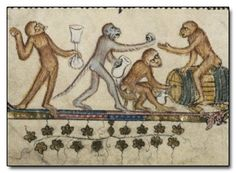 Medieval monkey party.