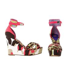#MMissoni | #Multicolor #Camouflage wedge Sandals | Summer 2014 Collection