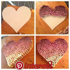 Ombre Wine Cork Heart! Ombre Wine Cork Heart!