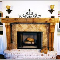 Great wooden mantle
