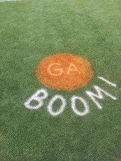 It didn't take quite as much paint as the Via de la Davis , but the word on the tweet is that the Auburn Grounds Crew also tagged the holy ground of that one moment in time, lest the recruits visiting for Big Cat Weekend forget.