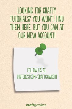This board is no longer updating, but our new craftgawker account is a dedicated arts & crafts account with many inspiring boards! art crafts, craft idea, craftgawk account, craft account