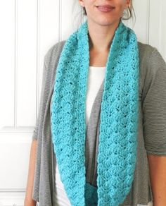 Free Shell Infinity Scarf Pattern by Grow Creative
