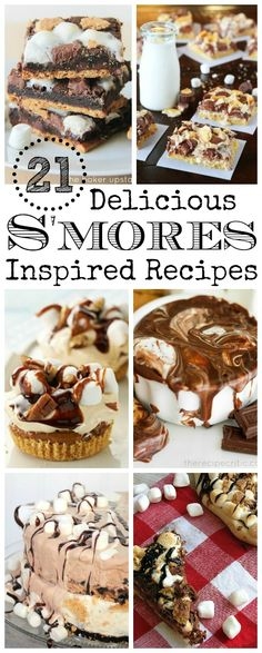 21 Mouth Watering S'mores Recipes! // cleanandscentsible.com
