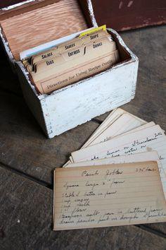 Vintage Recipe Box with Handwritten Recipes. $20.00, via Etsy.
