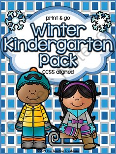 Winter Kindergarten Pack ~ Print & Go ~ CCSS Aligned from The Teaching Treehouse on TeachersNotebook.com -  (82 pages)  - This packet contains Winter themed alphabet practice, rhyming, syllables, reading comprehension, patterns, numbers 1-20, counting, adding, subtracting, shapes, and more! 81 ready to use printables.
