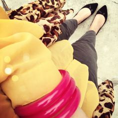 Yellow and grey with Leopard